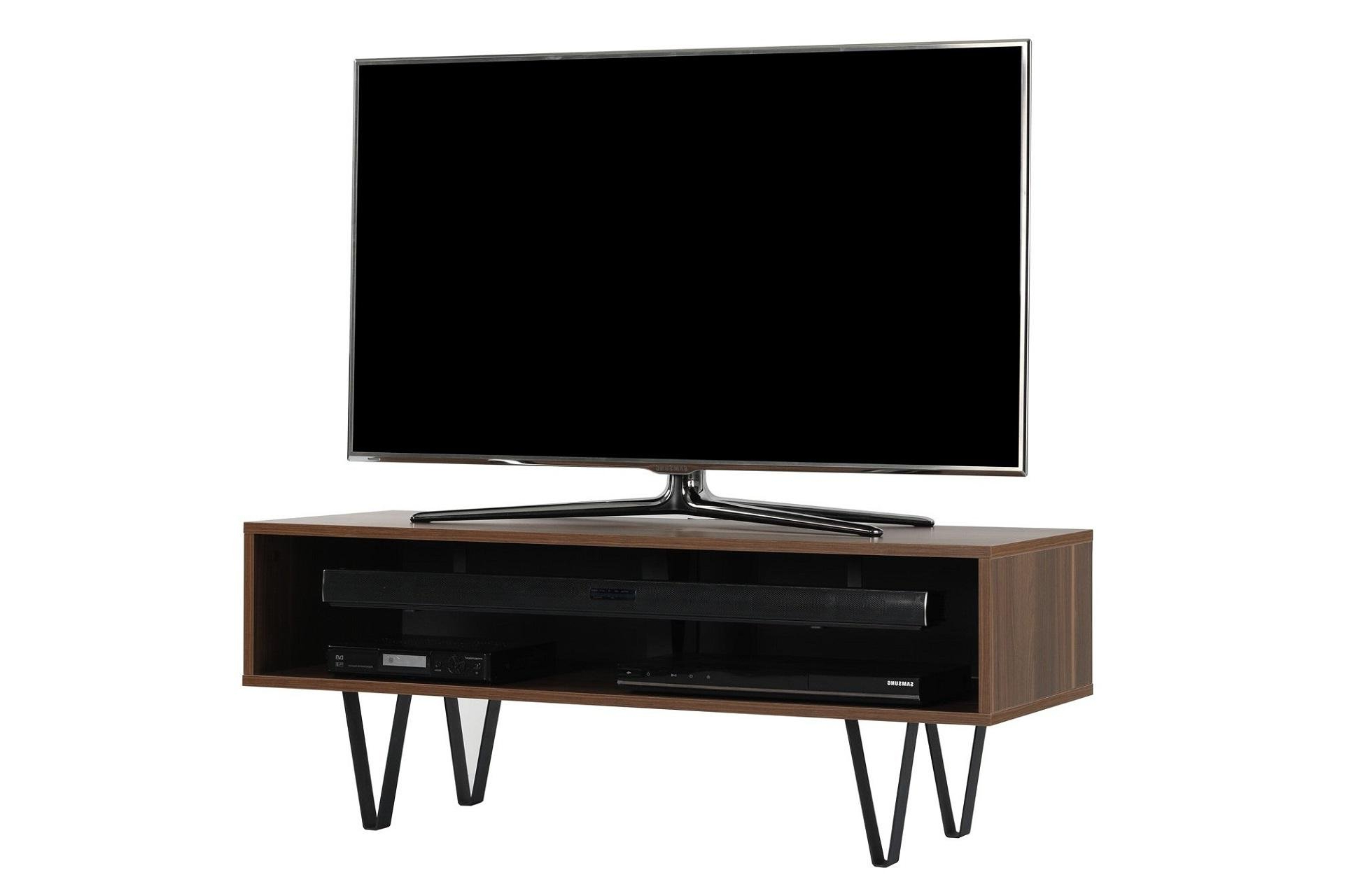 Most Recently Released Off The Wall Chevron 1100 (Walnut) Intended For Richer Sounds Tv Stand (Gallery 10 of 20)
