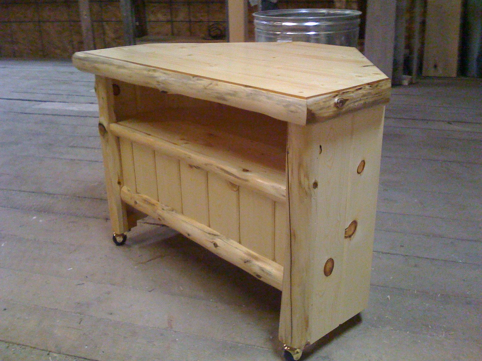 Most Recently Released Rustic Corner Tv Stands With Regard To Rustic Cedar Tv Stand Log Plans Cabin Stands Corner For Flat Screens (View 8 of 20)