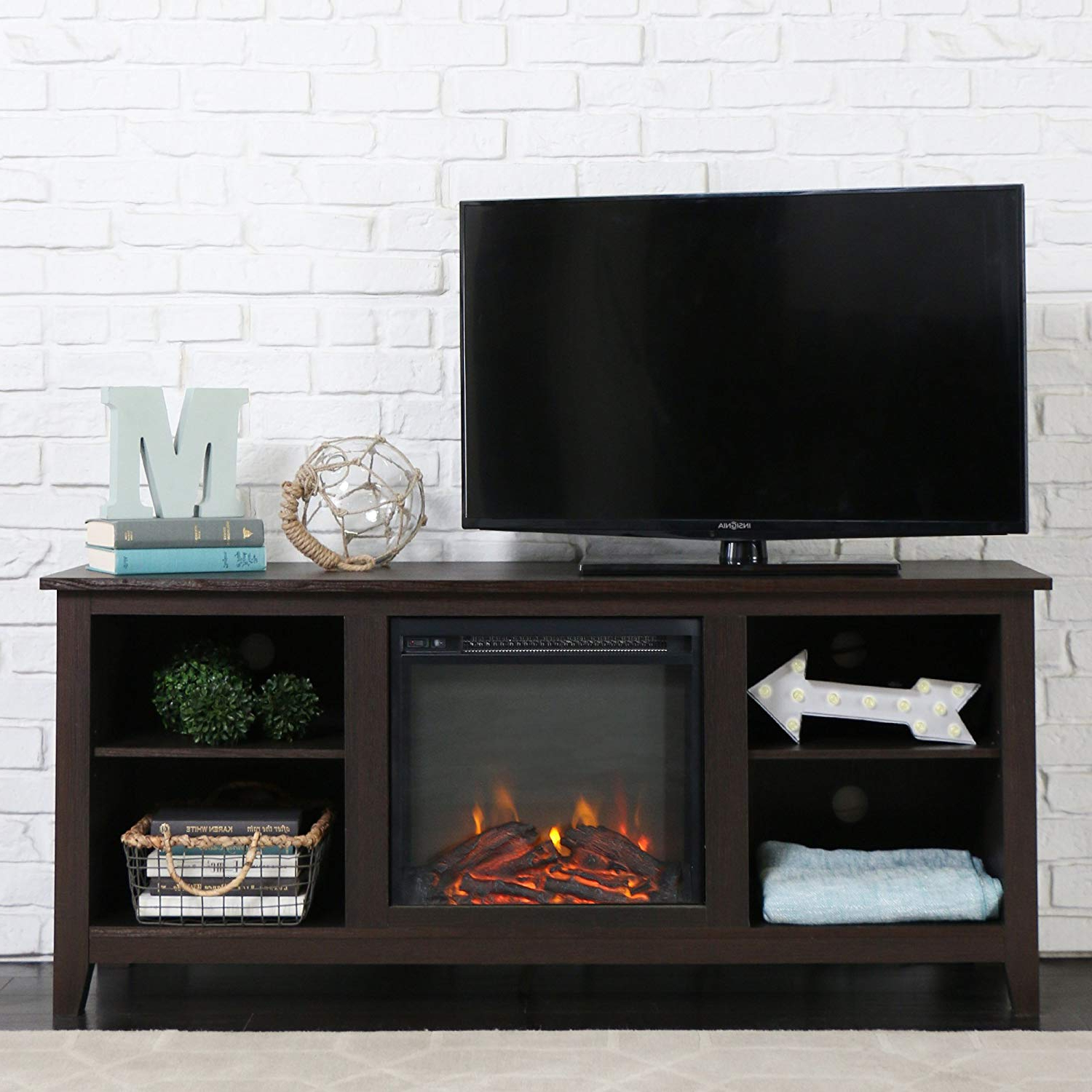 Most Recently Released Tv Stand With Fireplace Free Standing Electric Walmart 60 Inch In Corner 60 Inch Tv Stands (View 6 of 20)