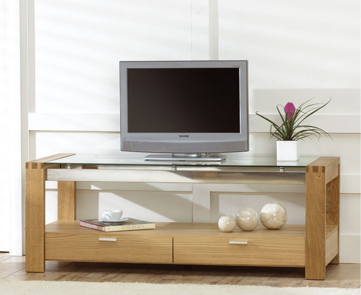 Most Recently Released Wood Tv Stand With Glass For Solid Oak Tv Stands With Glass Doors Corner Furniture For Stand (View 8 of 20)