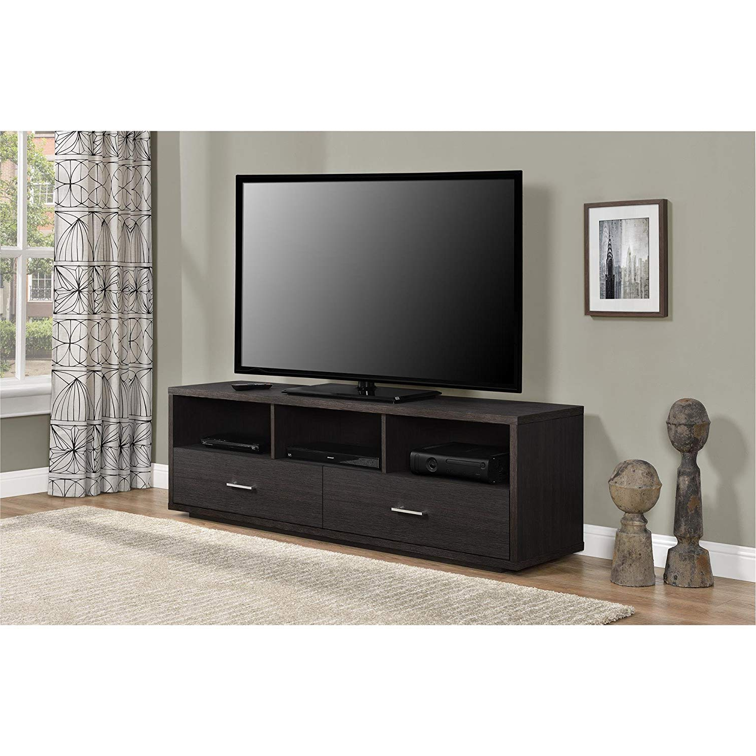 Most Up To Date Amazon: Ameriwood Home Clark Tv Stand For Tvs Up To 70 With Regard To Abbot 60 Inch Tv Stands (View 14 of 20)