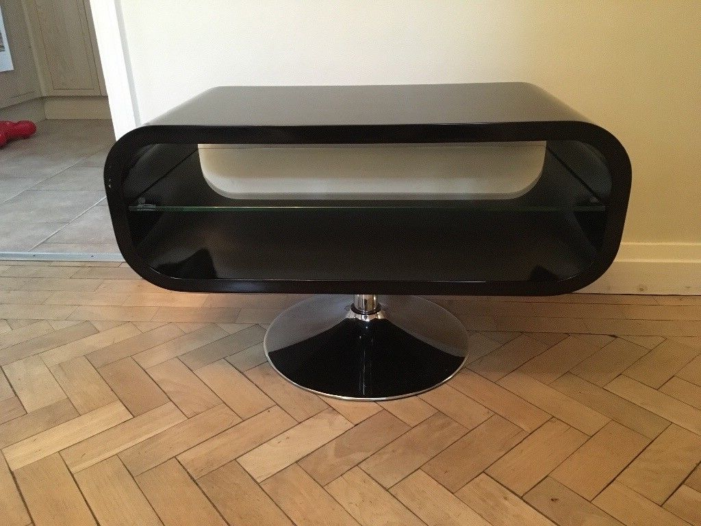 "Most Up To Date Black Gloss Retro Vtg 60S Opod Tv Stand Max 30"" Tv (View 13 of 20)"