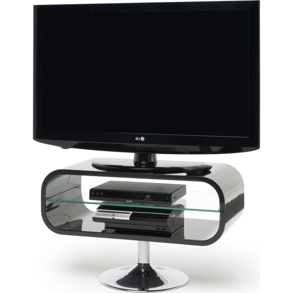 Most Up To Date Black Opod Tv Stands With Regard To Retro Chrome Pedestal; Quick To Assemble; Displays Up To  (View 14 of 20)