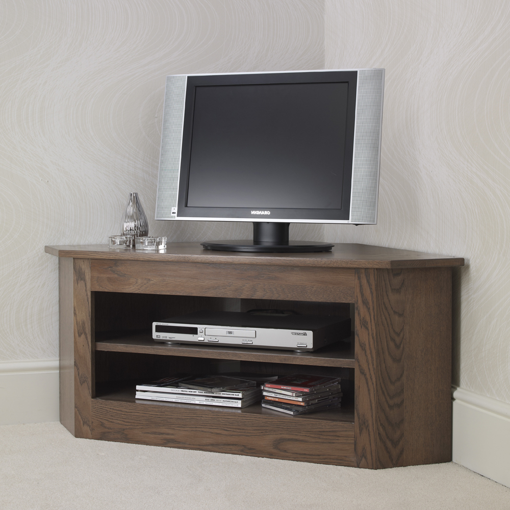 Most Up To Date Con Tempo Furniture: Ora Small Open Corner Tv Unit Intended For Small Corner Tv Cabinets (View 15 of 20)