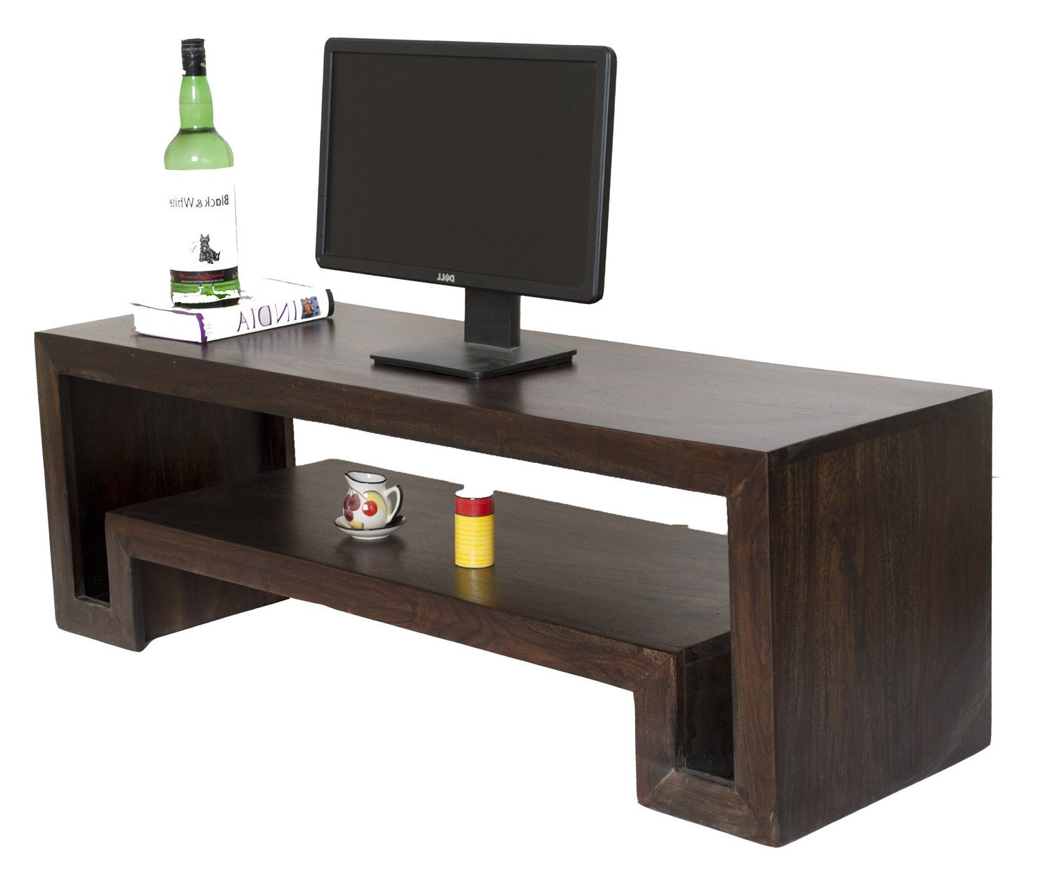 Most Up To Date Daintree Tv Stands Inside Daintree Hema Solid Wood Tv Entertainment Unit (natural Teak Finish (View 3 of 20)