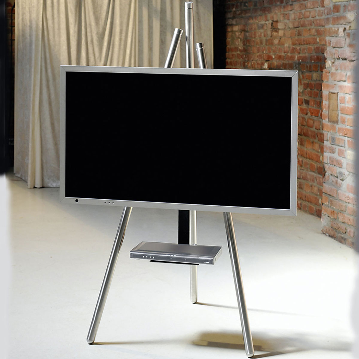 Most Up To Date Easel Tv Stands For Flat Screens Intended For Tv Stand With Mount 65 Inch Best Buy Stands In Store Flat Screen (View 11 of 20)