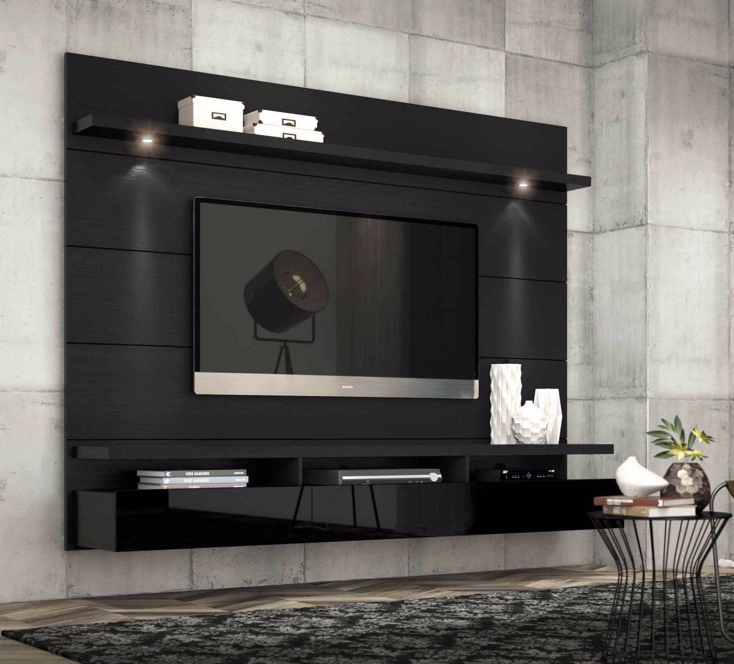 Most Up To Date Entertainment Center Modern Tv Stand Media Console Wall Mounted With Regard To Modern Tv Stands With Mount (View 10 of 20)