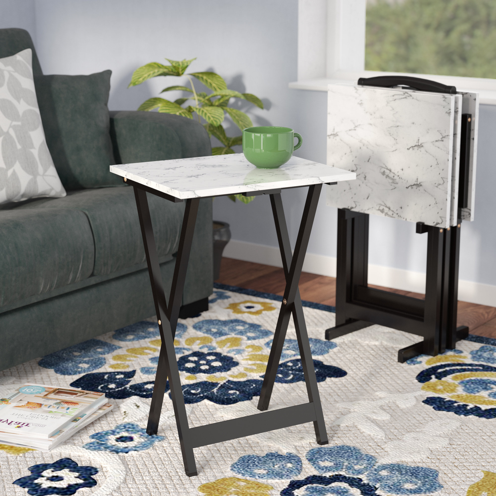 Most Up To Date Folding Tv Trays With Stand Intended For Tv Trays You'll Love (View 13 of 20)