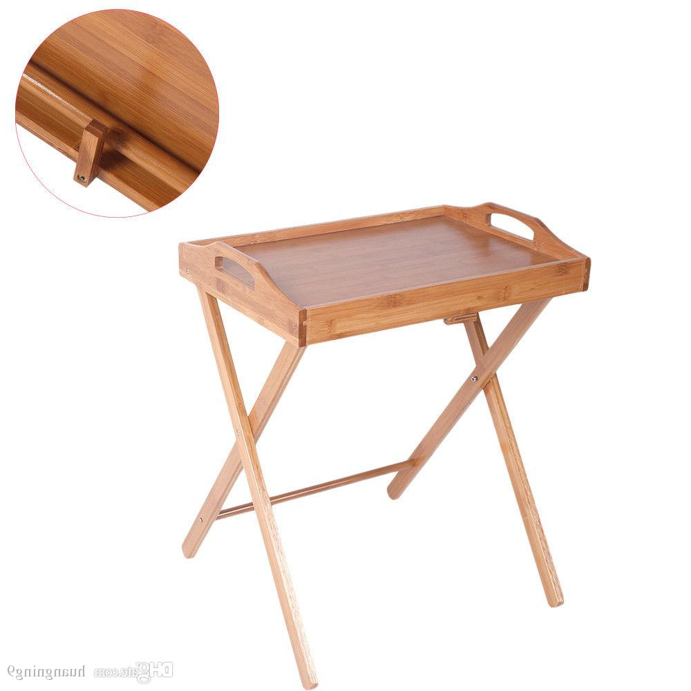 Most Up To Date Folding Wooden Tv Tray Tables In 2019 Folding Wood Portable Tray Table Stand Tv Dinner Craft Snack (View 16 of 20)