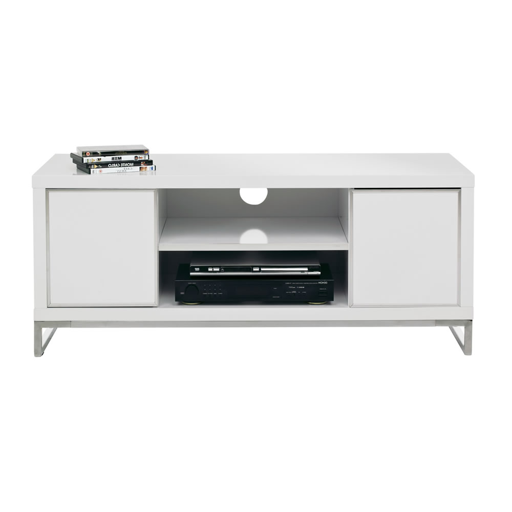 Most Up To Date Gloss White Tv Cabinets Inside Charisma Tv Unit White (View 20 of 20)