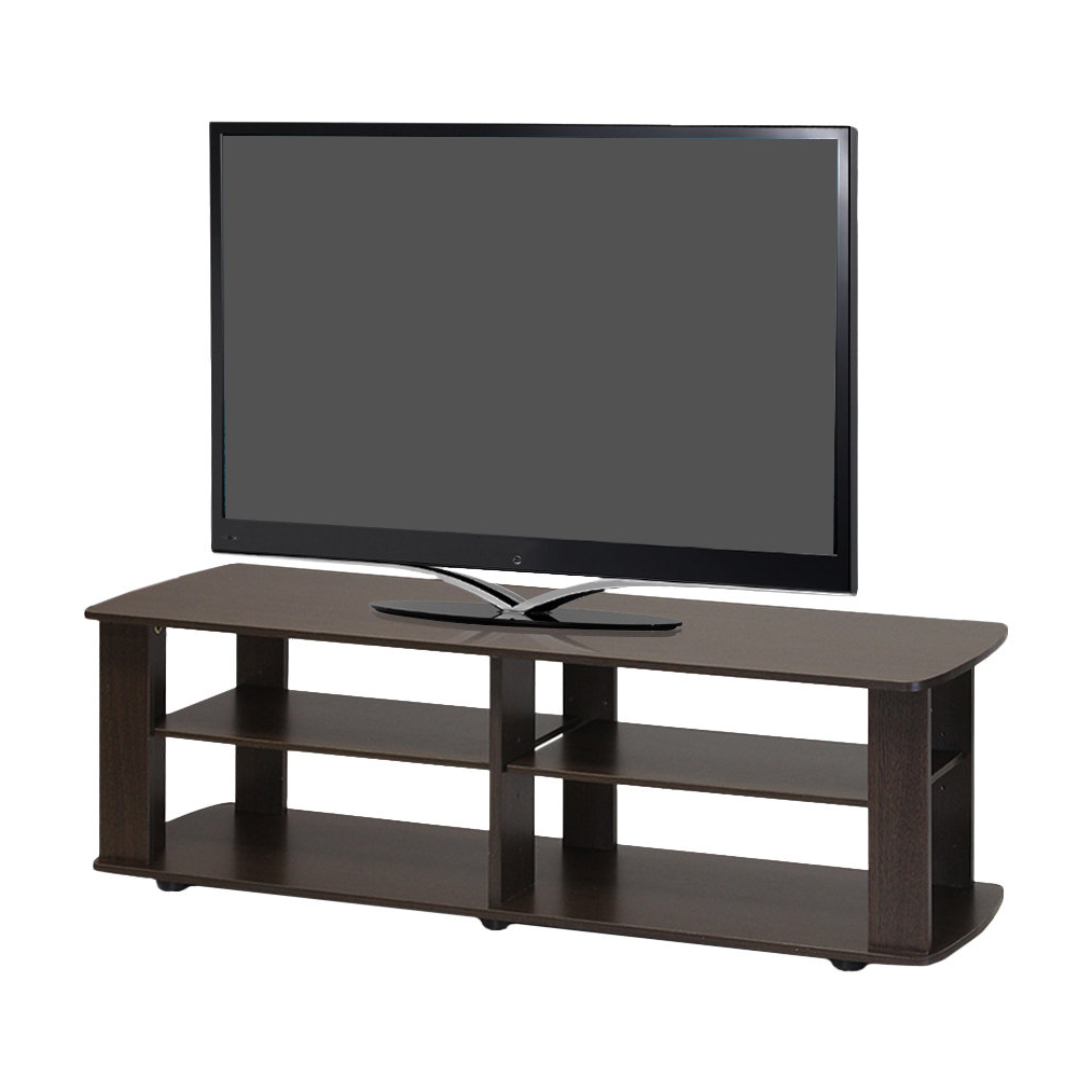 Most Up To Date Gunmetal Media Console Tables Within Dark Brown Tv Stand (View 10 of 20)