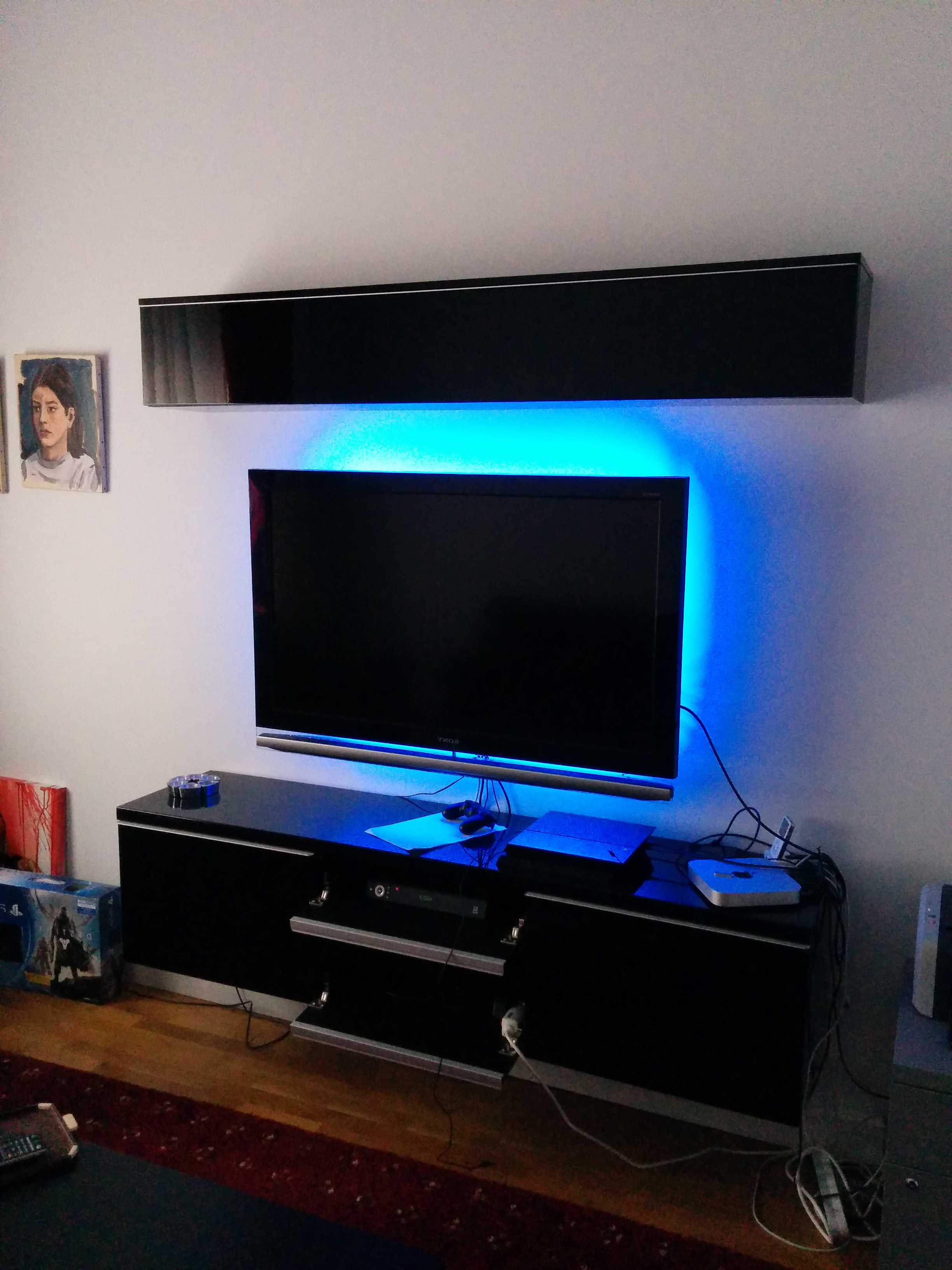 Most Up To Date Ikea Wall Mounted Tv Cabinets Intended For Ikea Tv Stand Hemnes White Floating Entertainment Center Wood (Gallery 18 of 20)