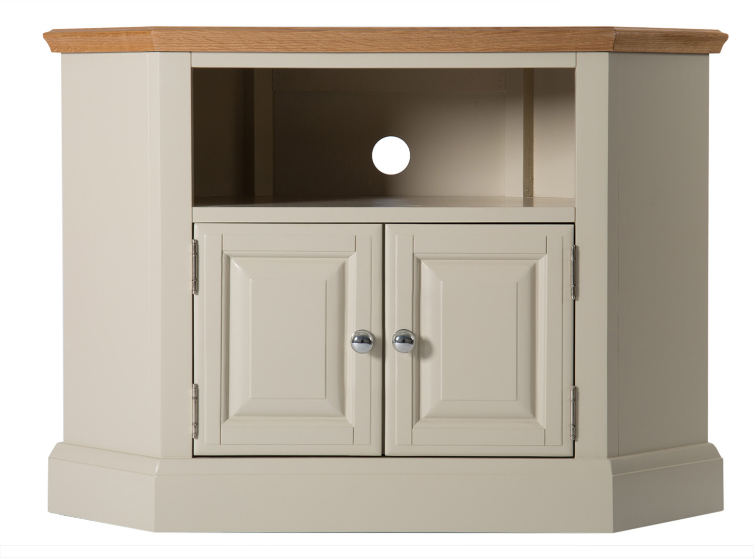 Most Up To Date Kloe Painted Oak Corner Tv Cabinet (View 11 of 20)
