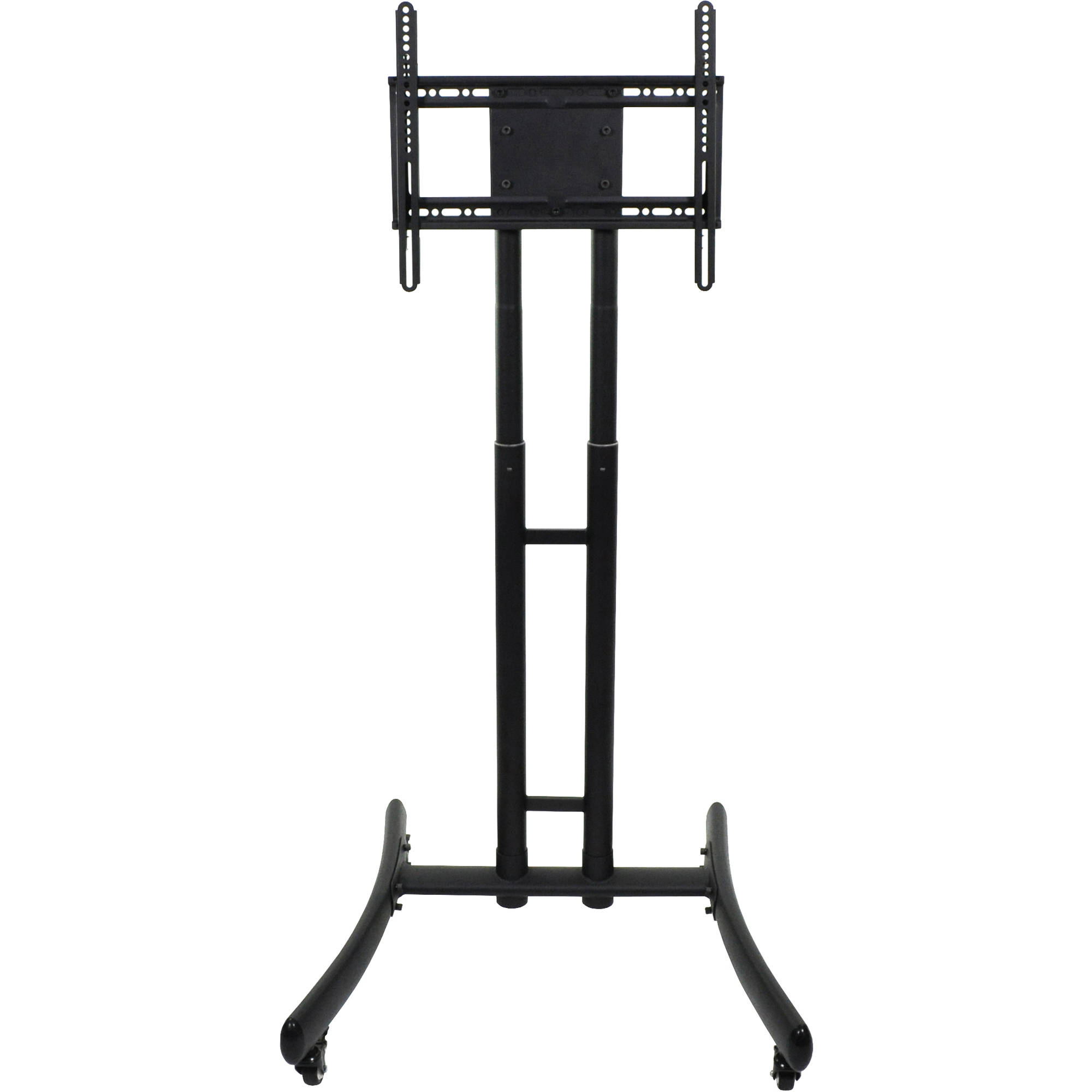 Most Up To Date Luxor Fp1000 Height Adjustable Rolling Tv Stand Fp1000 B&h Photo Throughout Lockable Tv Stands (Gallery 20 of 20)