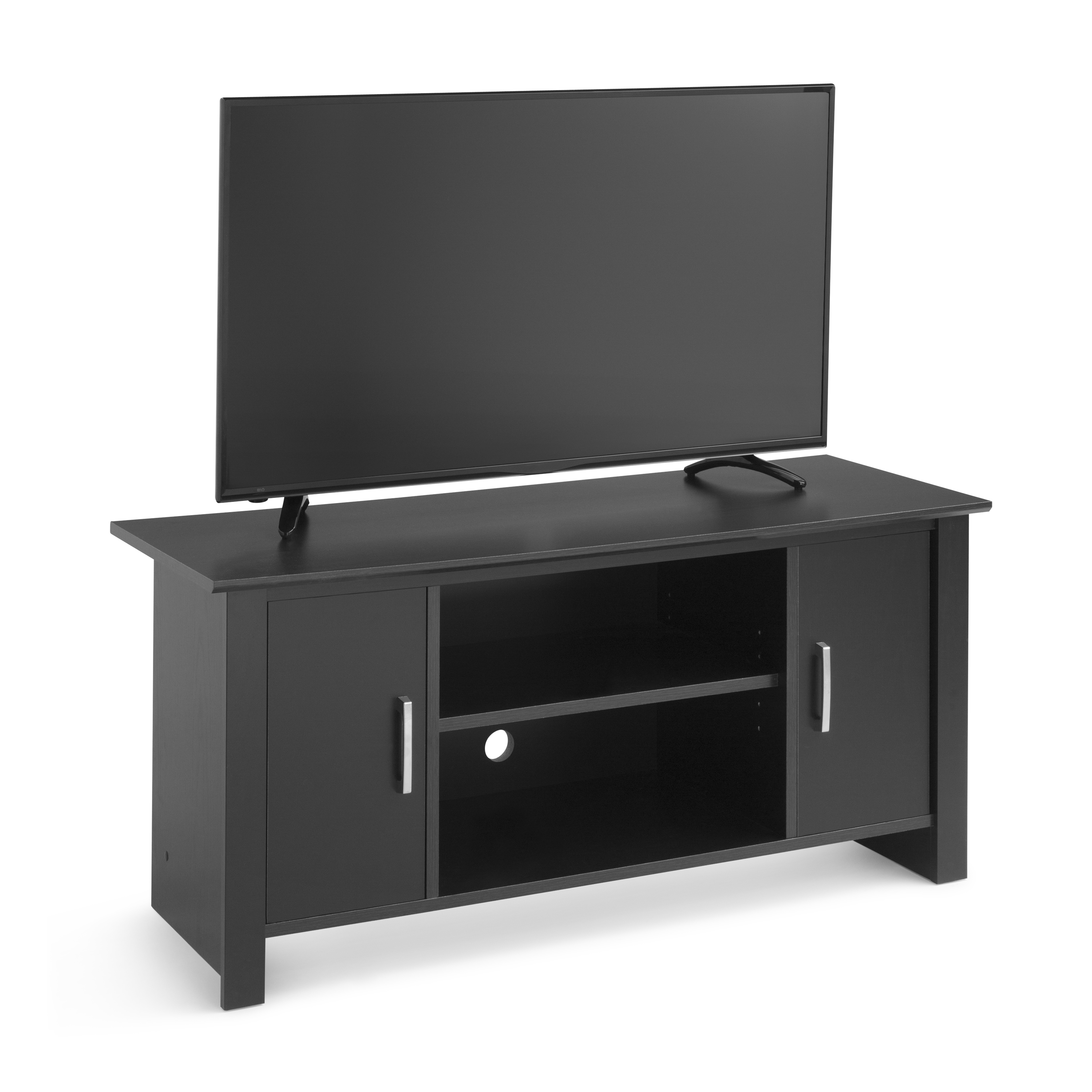 "Most Up To Date Mainstays Tv Stand For Flat Screen Tvs Up To 47"", Canyon Walnut In Enclosed Tv Cabinets For Flat Screens With Doors (View 4 of 20)"