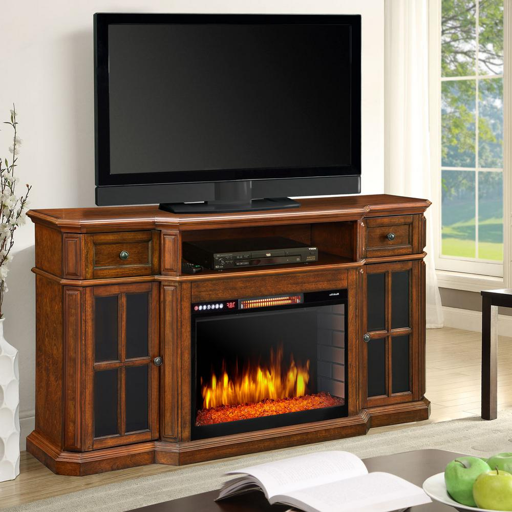 Most Up To Date Muskoka Sinclair 60 In. Bluetooth Media Electric Fireplace Tv Stand Pertaining To Sinclair Blue 74 Inch Tv Stands (Gallery 7 of 20)