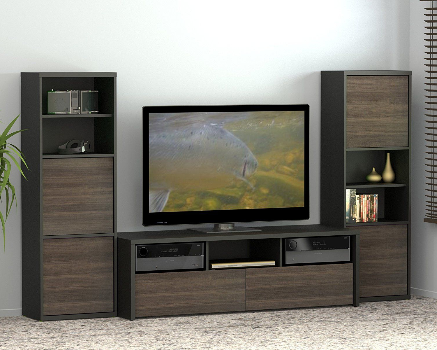 Most Up To Date Nexera Tv Stands For Amazon: Sereni T 60 Inch Tv Stand 210406 From Nexera, Black And (View 8 of 20)