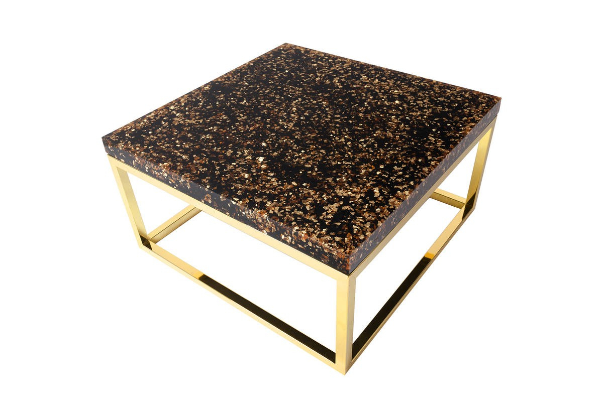 Most Up To Date Phillips Collection Captured Gold Flake Coffee Table Th81360 For Phillip Brass Console Tables (View 7 of 20)