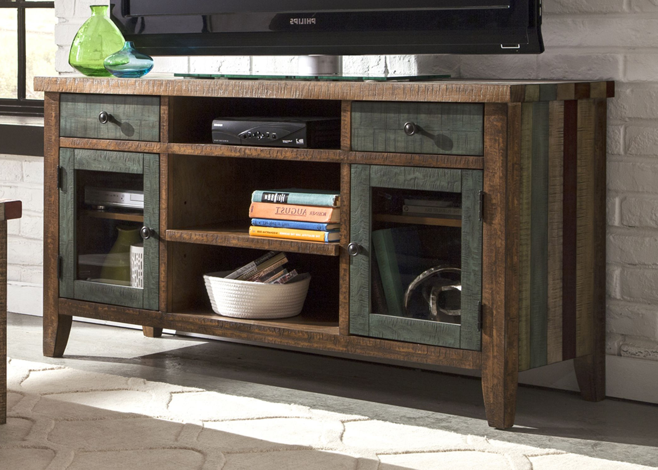 Most Up To Date Rustic Tv Stands Intended For Rustic Tv Stand Boho Loft Brown 54 Console Corner Plans Uk Diy (View 11 of 20)