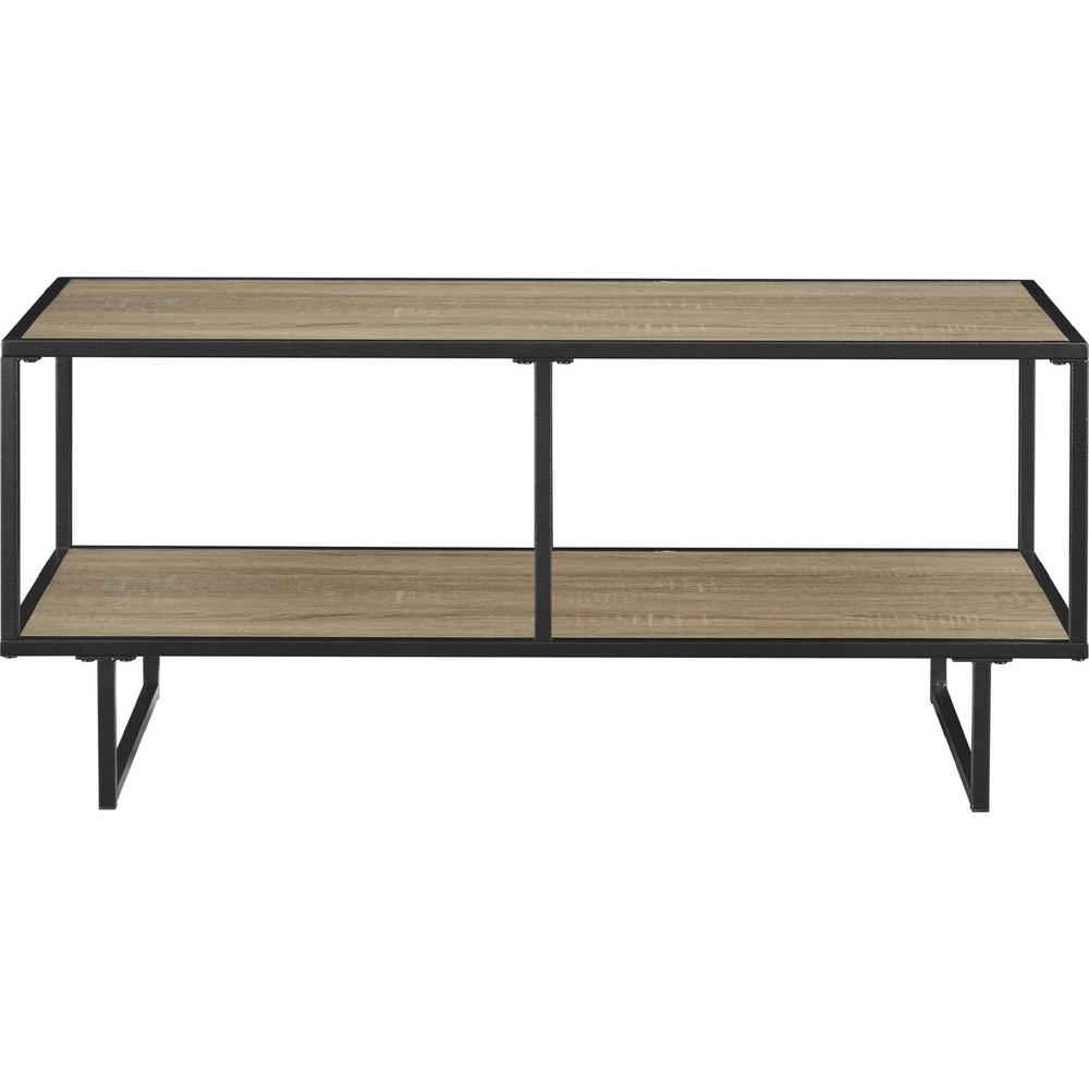 Most Up To Date Tv Stand Coffee Table Sets Within Ameriwood Home Bolton Weathered Oak 42 In. Tv Stand And Coffee Table (Gallery 17 of 20)