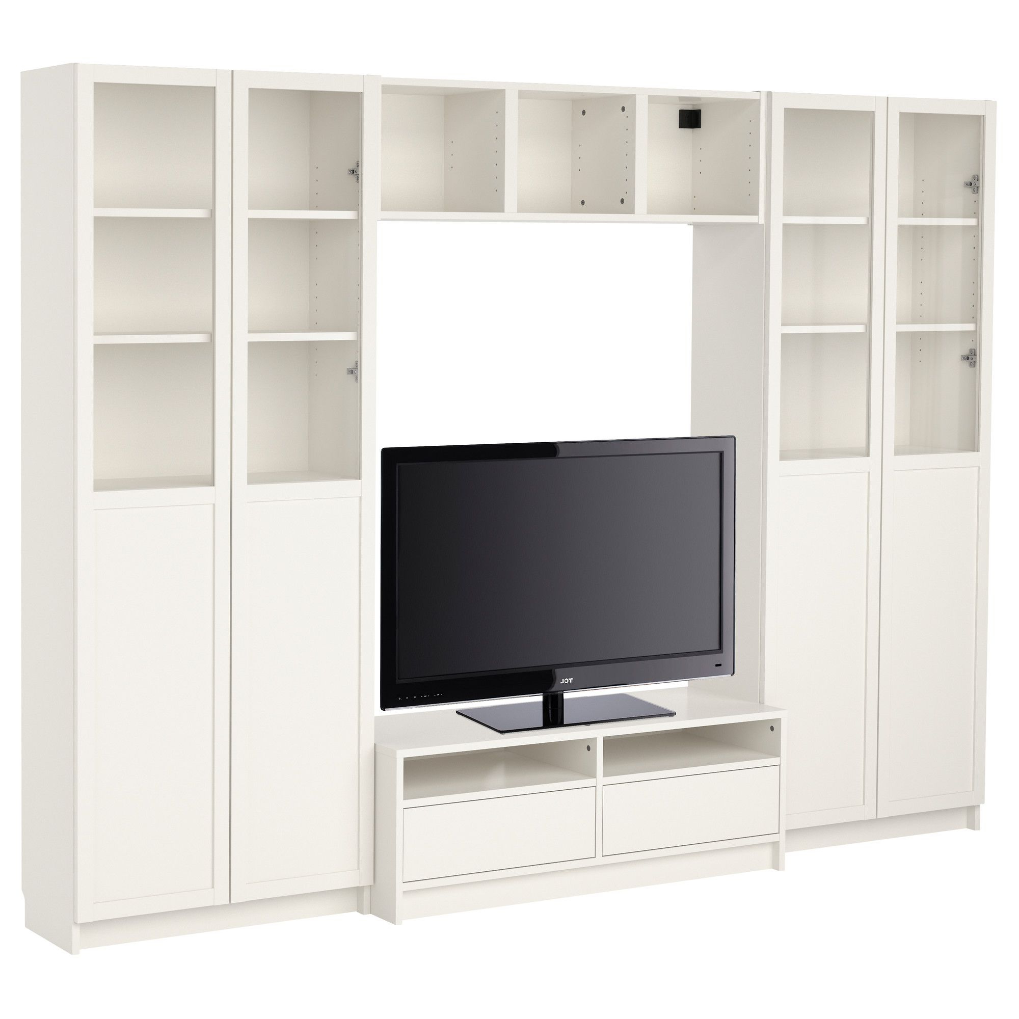 Most Up To Date Tv Stands Bookshelf Combo With Billy Bookcase Combination With Tv Bench – White – Ikea (View 8 of 20)
