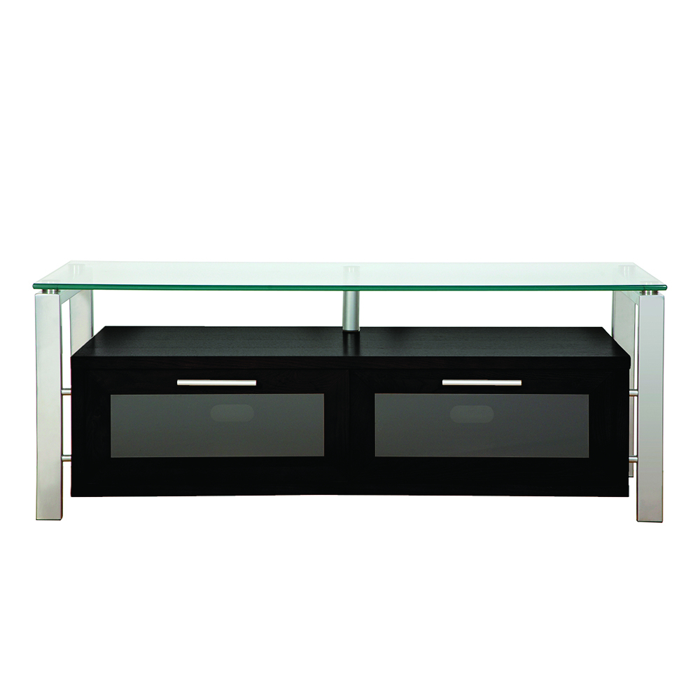 """Most Up To Date Tv Stands For Tube Tvs Inside Plateau Decor 50 B S Tv Stand Up To 55"""" Tvs In Black Oak Finish With (View 16 of 20)"""