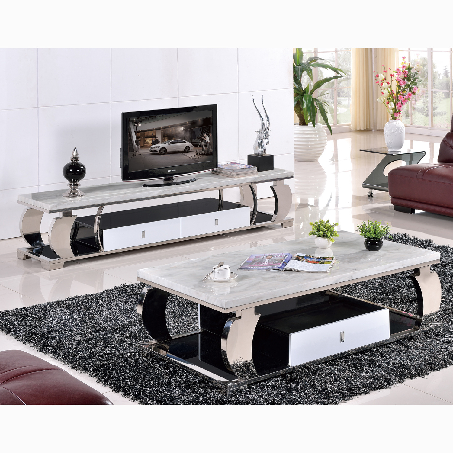 Most Up To Date Tv Unit And Coffee Table Sets With Regard To Led Tv Stand Designs Console Table Set With Mirror Coffee Sets (View 12 of 20)
