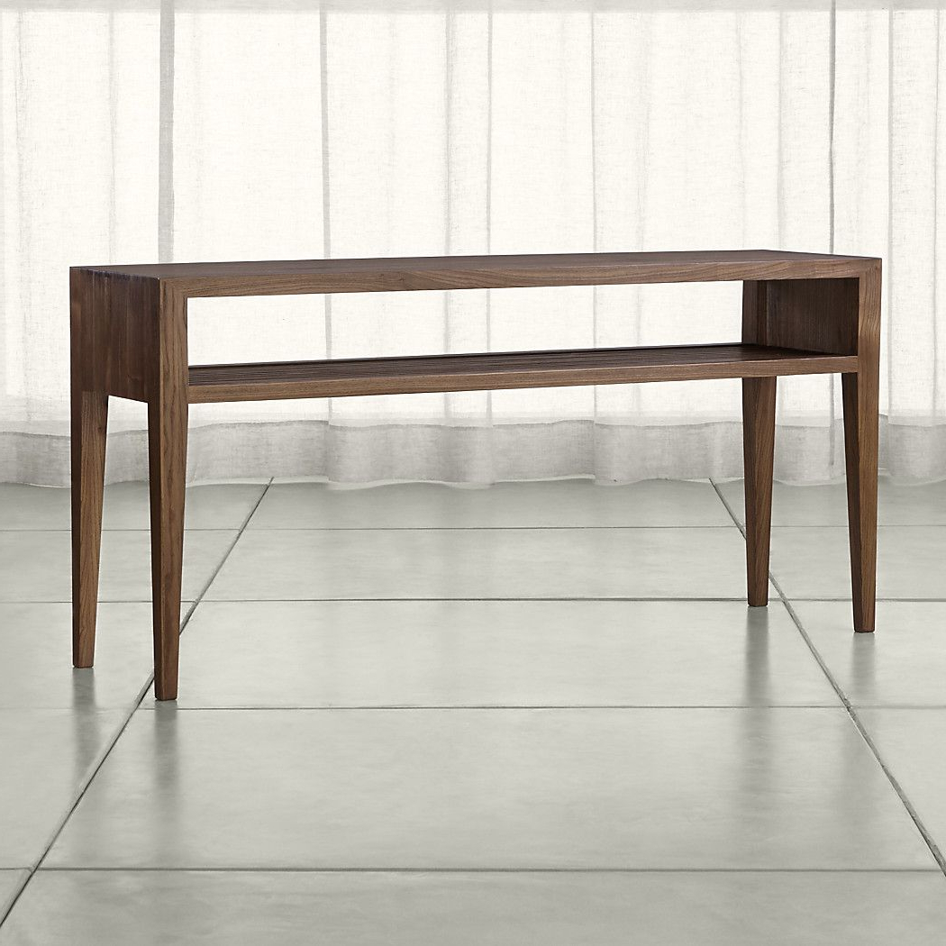 Most Up To Date Ventana Display Console Tables Pertaining To Shop Marin Shiitake Solid Wood Console Table (View 9 of 20)