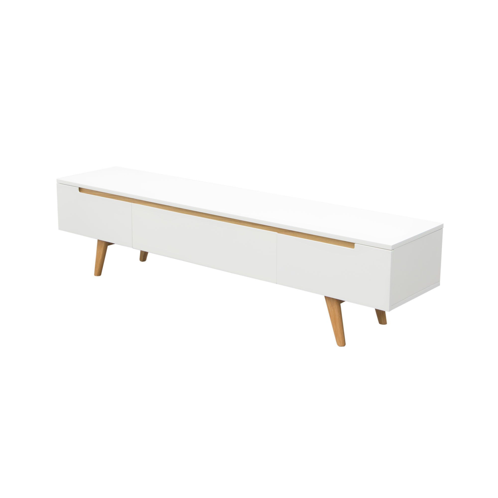 """Most Up To Date Vision 71"""" Low Profile Entertainment Cabinet Tv Stand In White With Regarding Low Profile Contemporary Tv Stands (View 8 of 20)"""