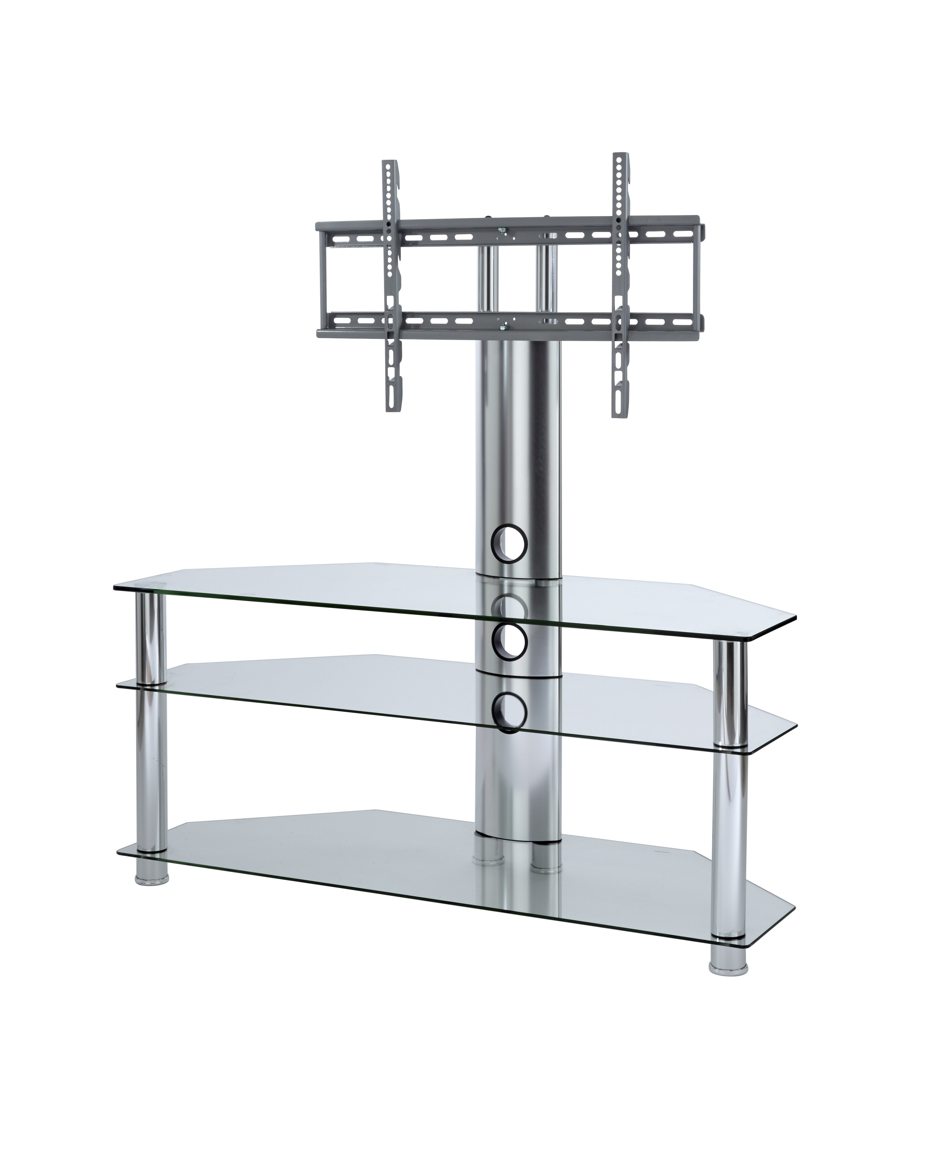 Most Up To Date White Tv Stand With Glass Doors Console Wall Mount Shelf Wayfair Within White Cantilever Tv Stands (View 13 of 20)