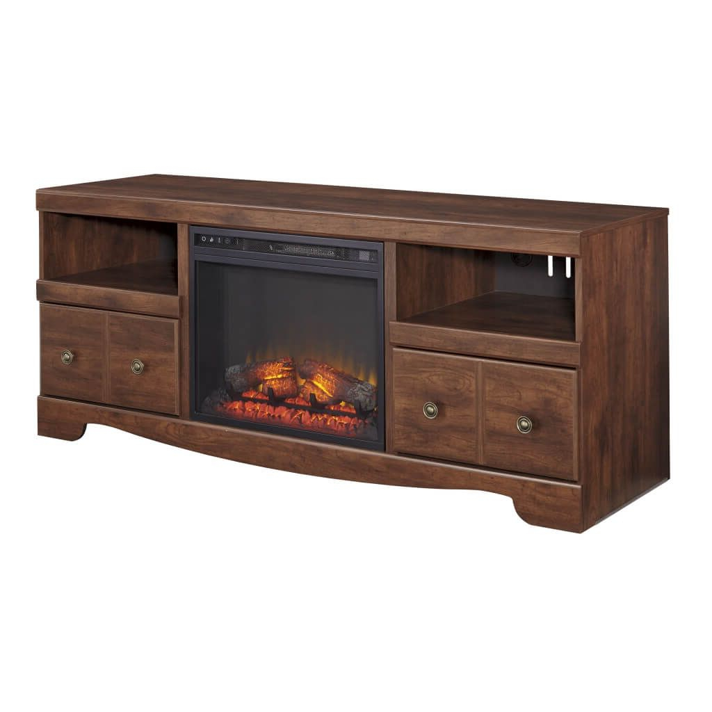 Most Up To Date Wooden Tv Stands And Cabinets Within Furniture: Stylish Electric Fireplace And Wooden Tv Stand Unit (View 8 of 20)