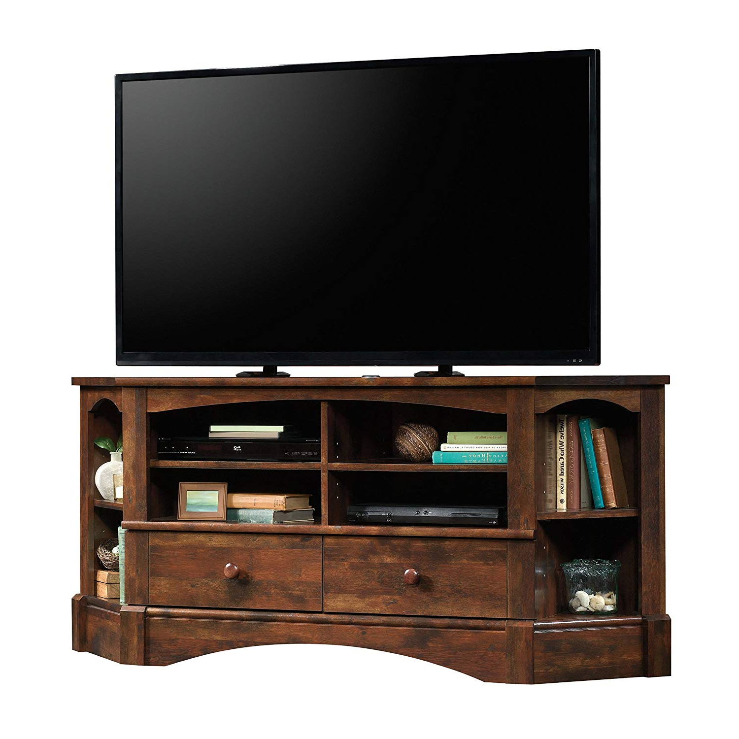 Murphy 72 Inch Tv Stands For Popular Amazon: Sauder 420471 Harbor View Corner Entertainment Credenza (View 8 of 20)