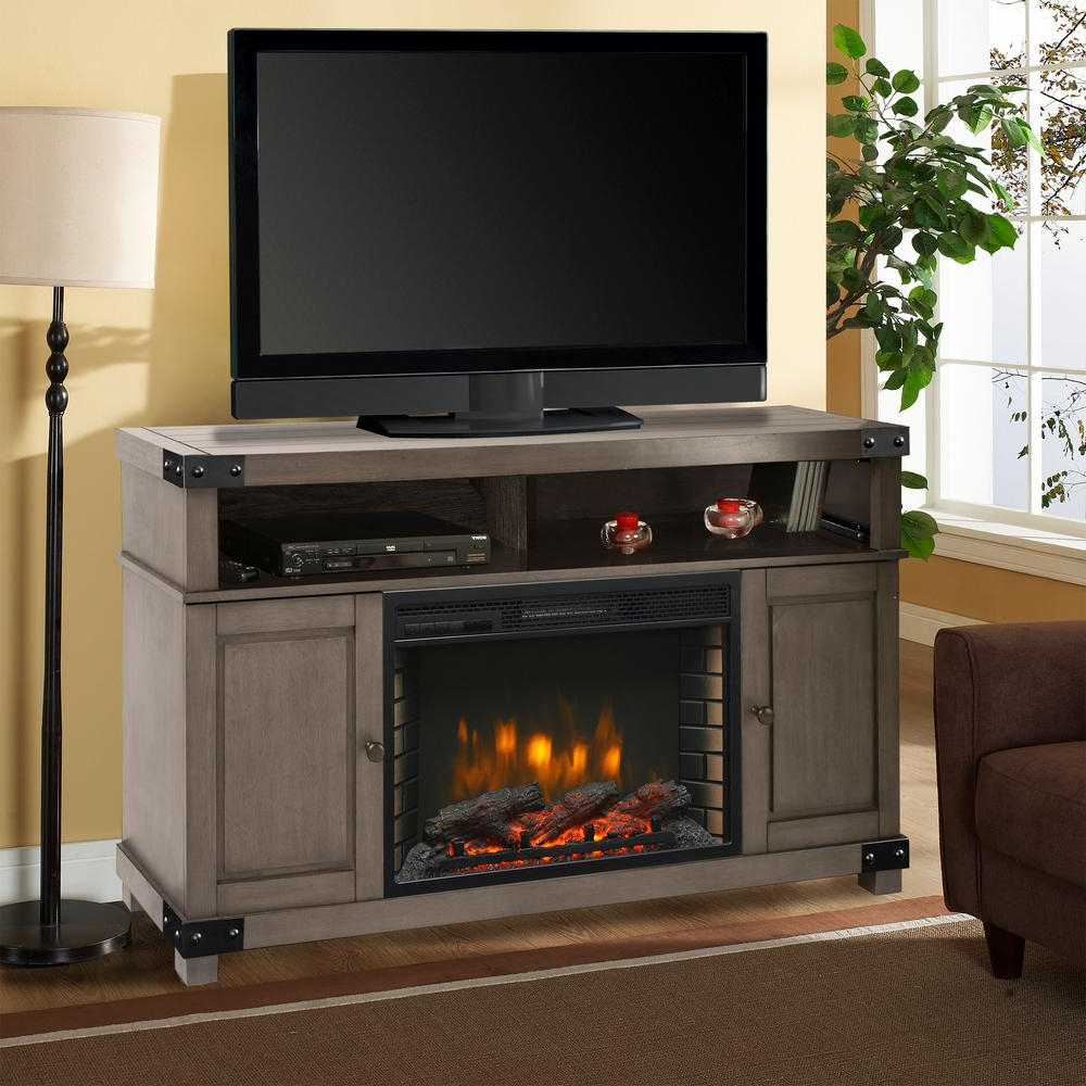 Muskoka – Fireplace Tv Stands – Electric Fireplaces – The Home Depot Throughout Most Recently Released Sinclair Grey 64 Inch Tv Stands (View 11 of 20)