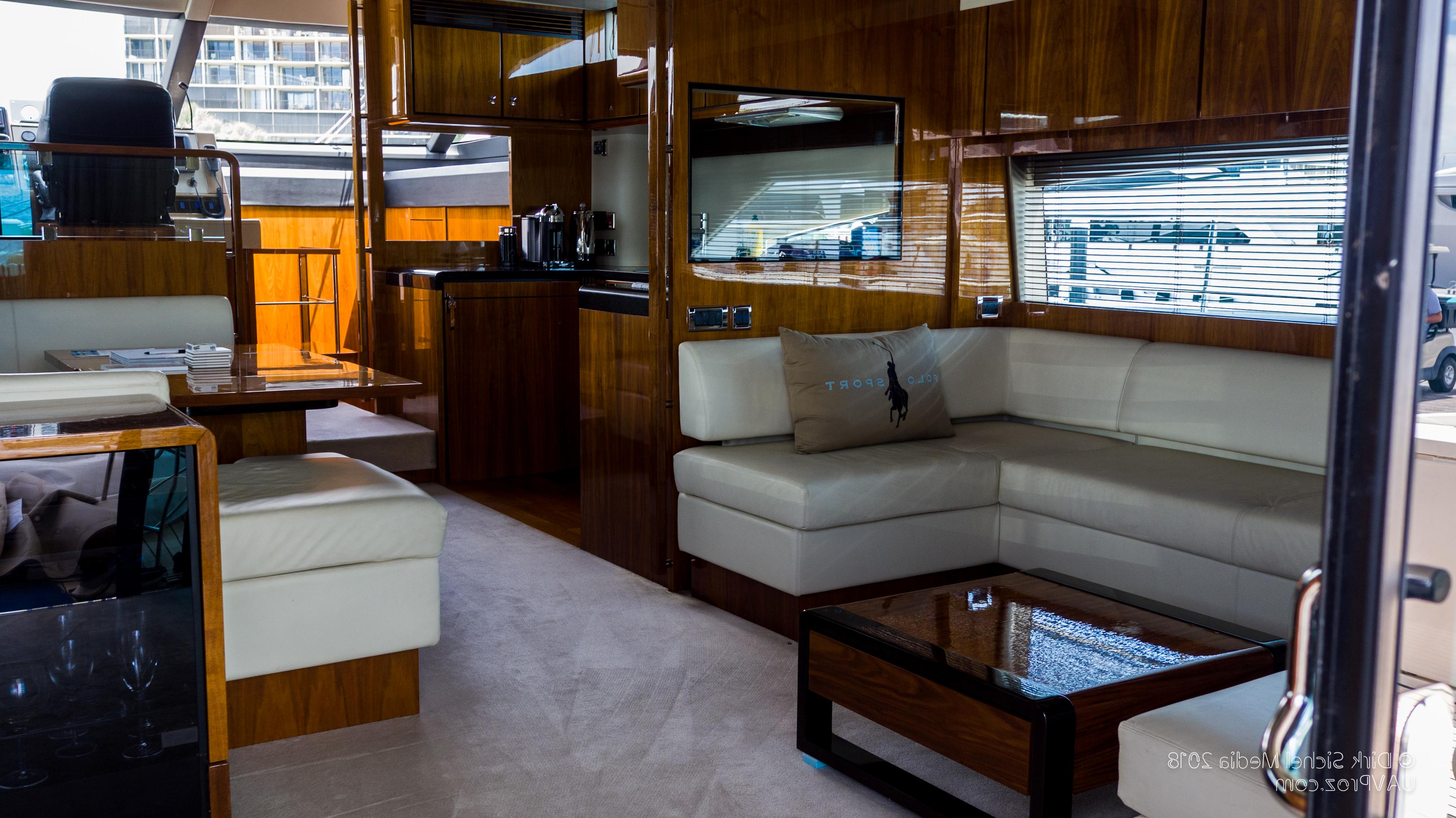 Nauti Buoy's Fairline 2012 Squadron 65 65 Yacht For Sale In Us Throughout Most Popular Mikelson Media Console Tables (Gallery 10 of 20)