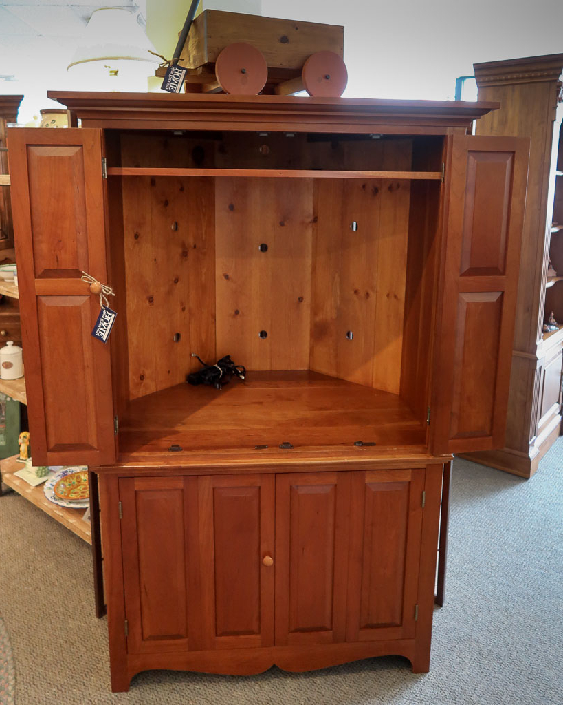 New England Home Furniture Consignment With Regard To Most Up To Date Cherry Tv Armoire (View 14 of 20)