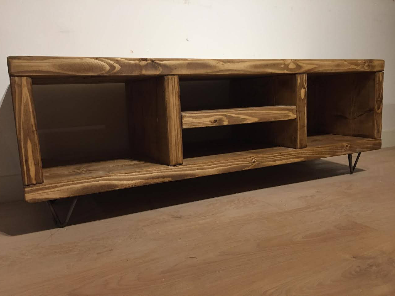 New Pine Tv Cabinet With Hairpin Legs – Newco Interiors – Bespoke For Famous Pine Tv Cabinets (Gallery 2 of 20)