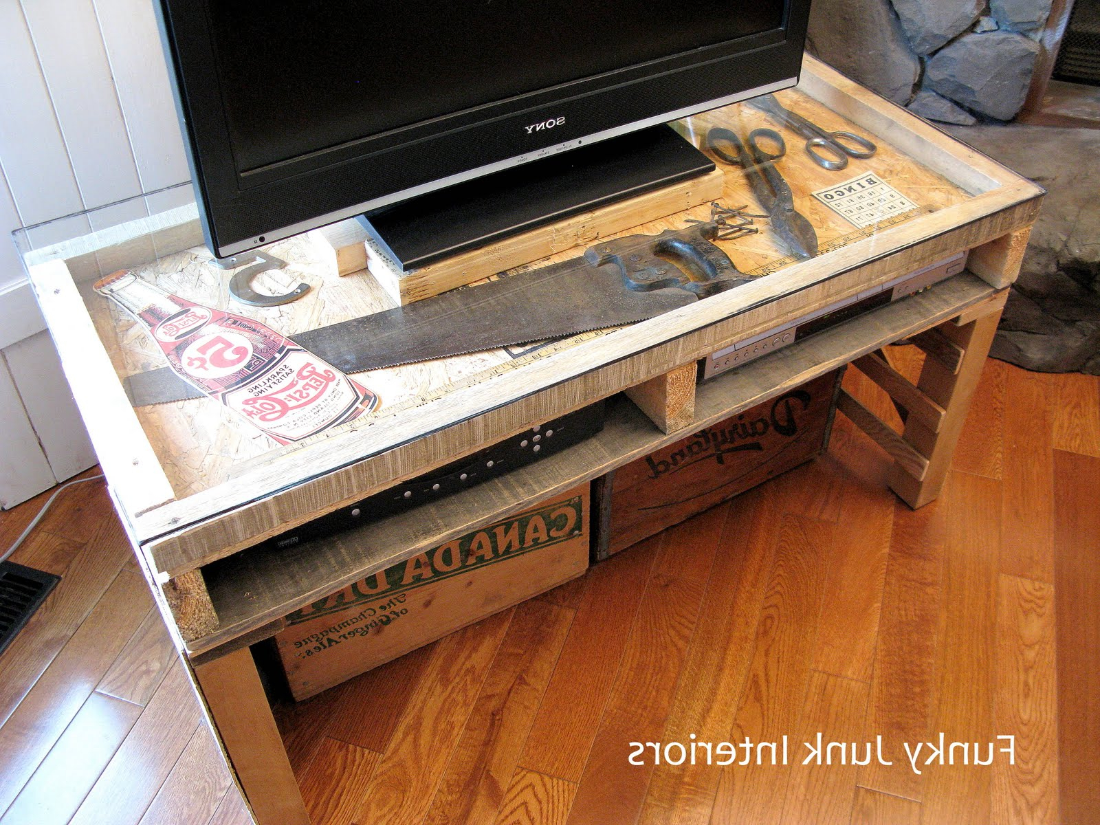 New Tv Stand Made From A Palletfunky Junk Interiors In Most Recently Released Funky Tv Stands (Gallery 9 of 20)
