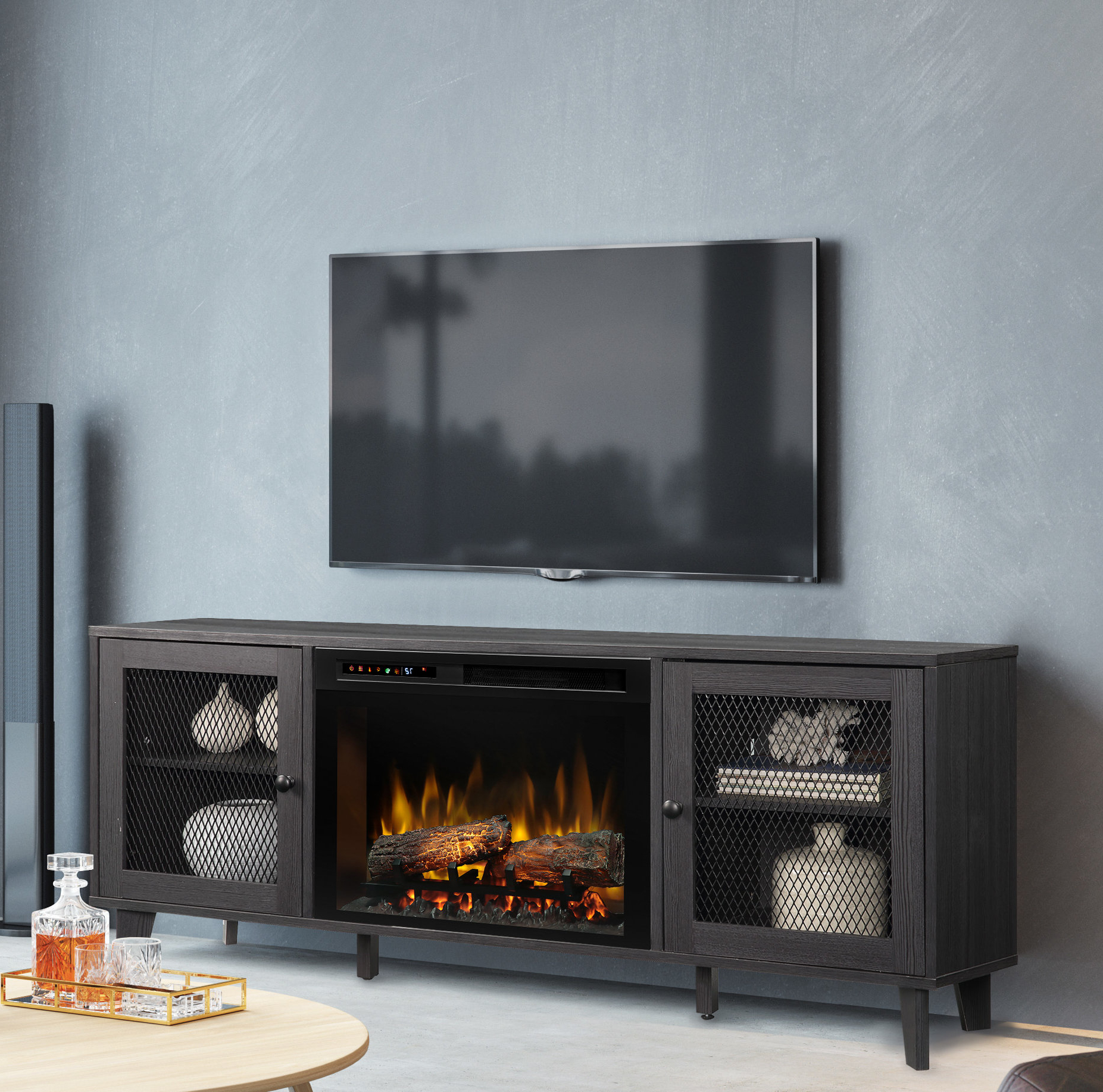 Newest 60 69 Inch Tv Stand Fireplaces You'll Love (Gallery 20 of 20)
