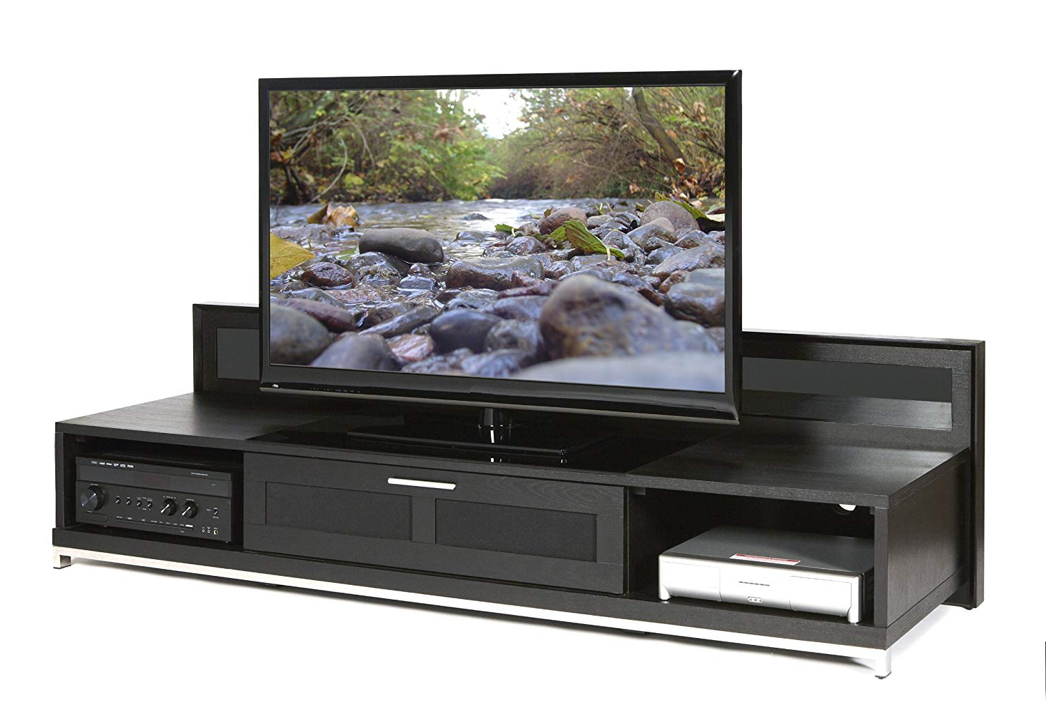 Newest Amazon: Plateau Valencia 79 B Wood Tv Stand, 79 Inch, Black Oak For Valencia 70 Inch Tv Stands (Gallery 6 of 20)