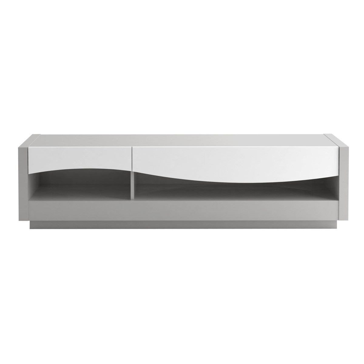 Newest Archibald White High Gloss And Grey Tv Unit 178Cm Pertaining To White High Gloss Tv Stands (Gallery 17 of 20)