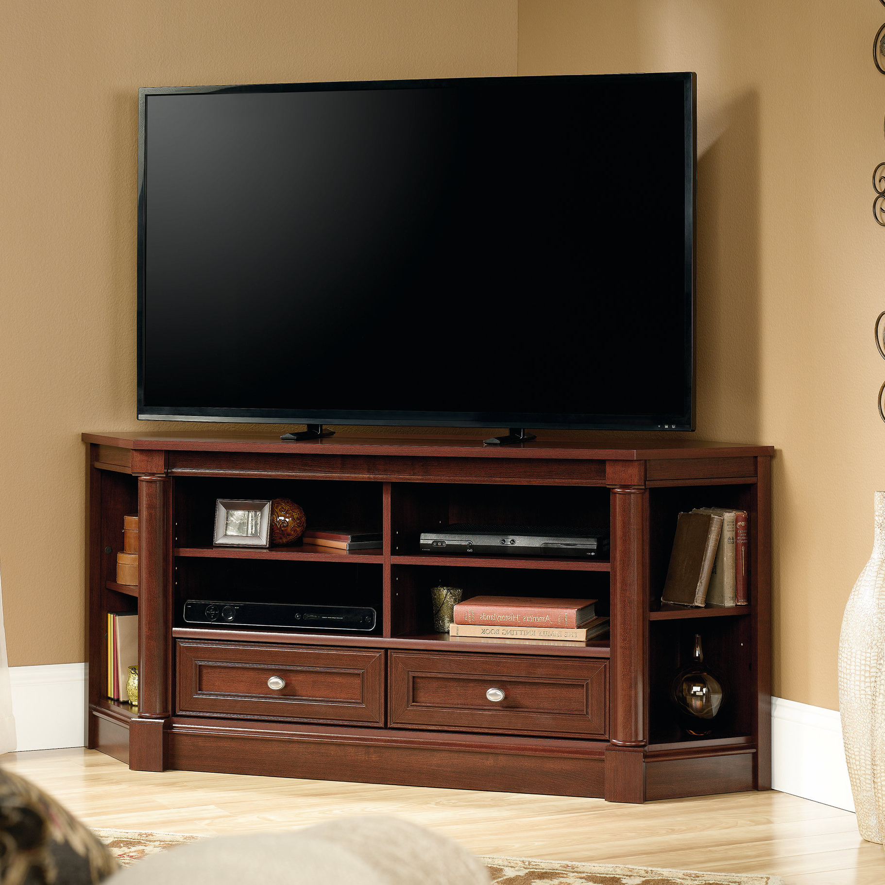 Newest Black Corner Tv Stands For Tvs Up To 60 Throughout 55 In Corner Tv Stand (Gallery 8 of 20)
