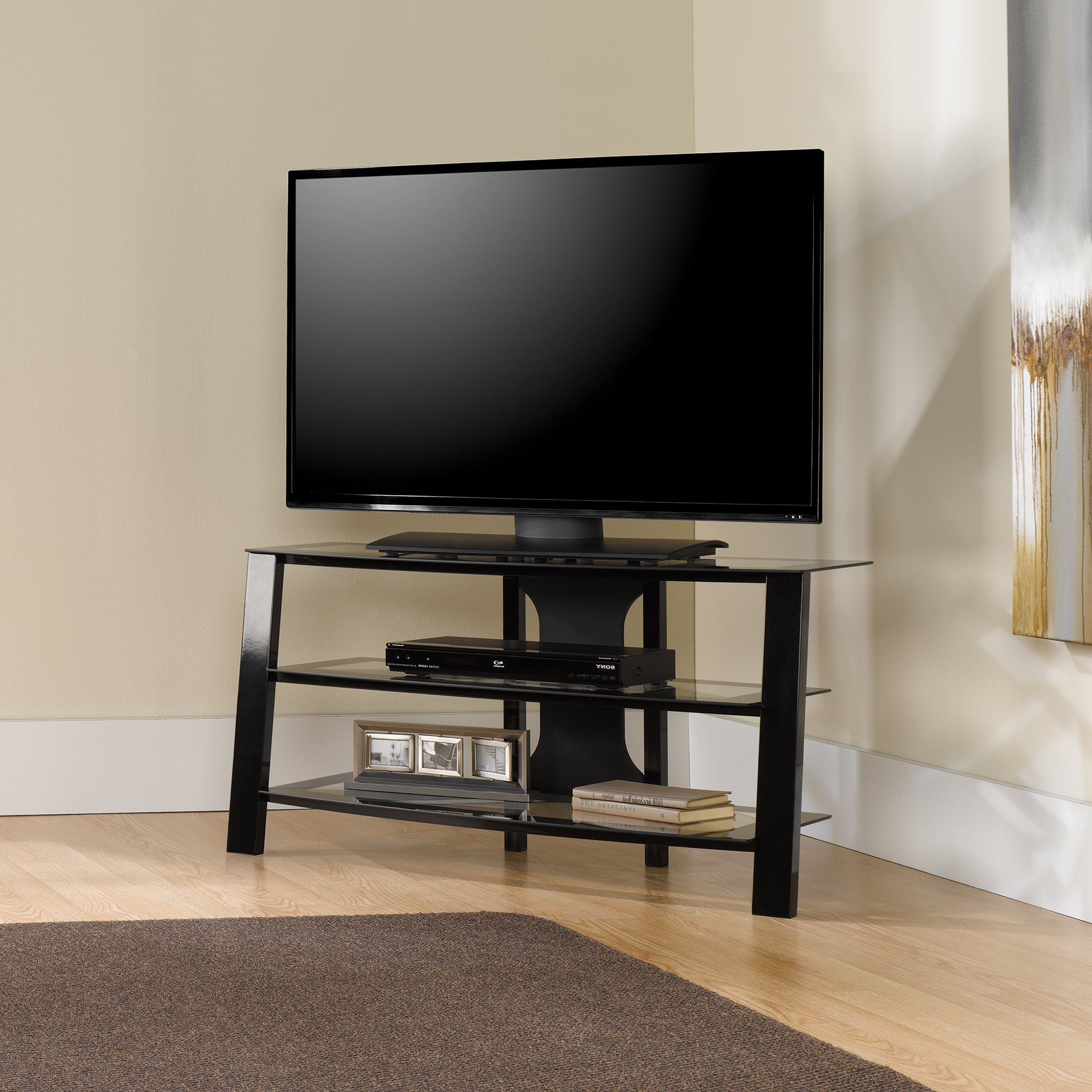 Newest Contemporary Tv Stands For Flat Screens Throughout Flat Panel Tv Stand With Mount Wall Cabinets Portable Stands For (View 14 of 20)
