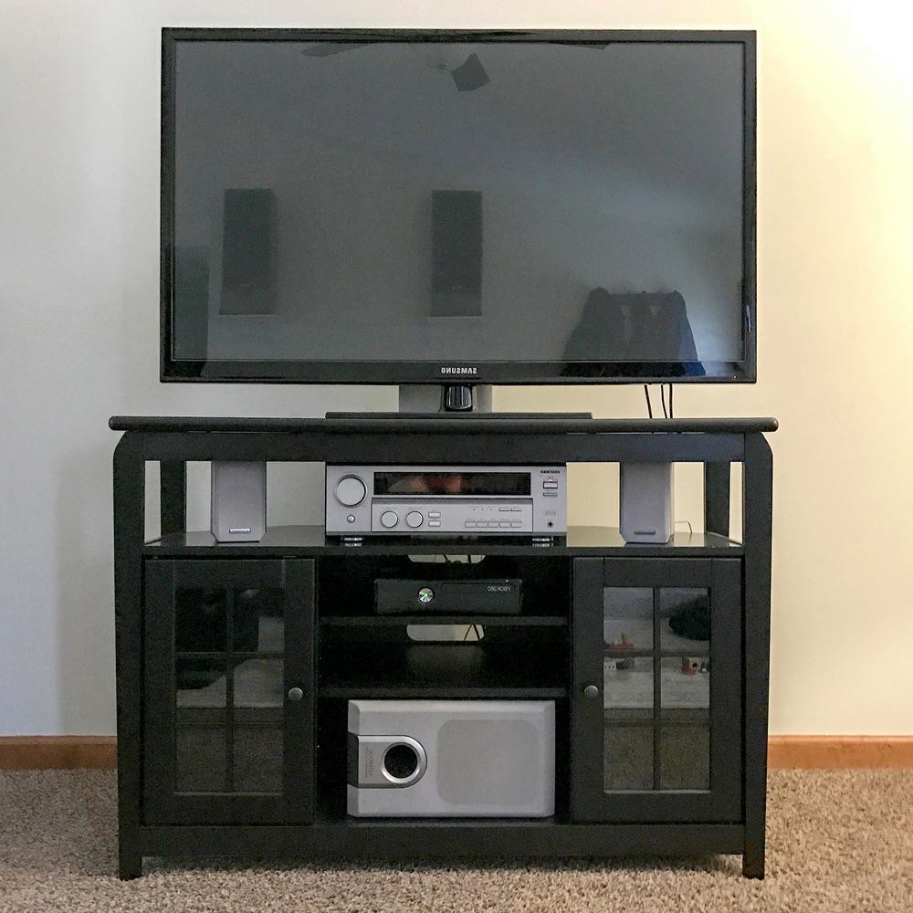 Newest Corner Tv Stands For 46 Inch Flat Screen Within Highboy Corner Tv Stand Or Hamilton With Black Plus 31 In. H Polar (Gallery 7 of 20)