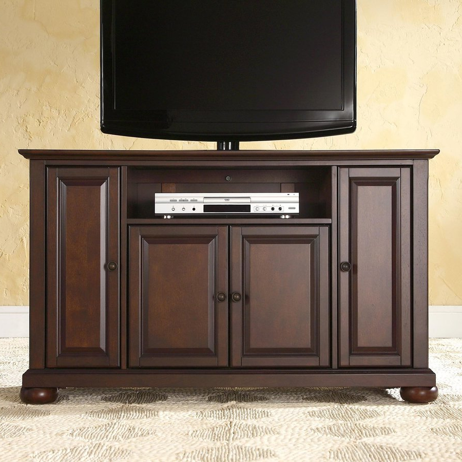 Newest Crosley Furniture Alexandria Vintage Mahogany Tv Cabinet At Lowes Throughout Mahogany Tv Stands (Gallery 7 of 20)