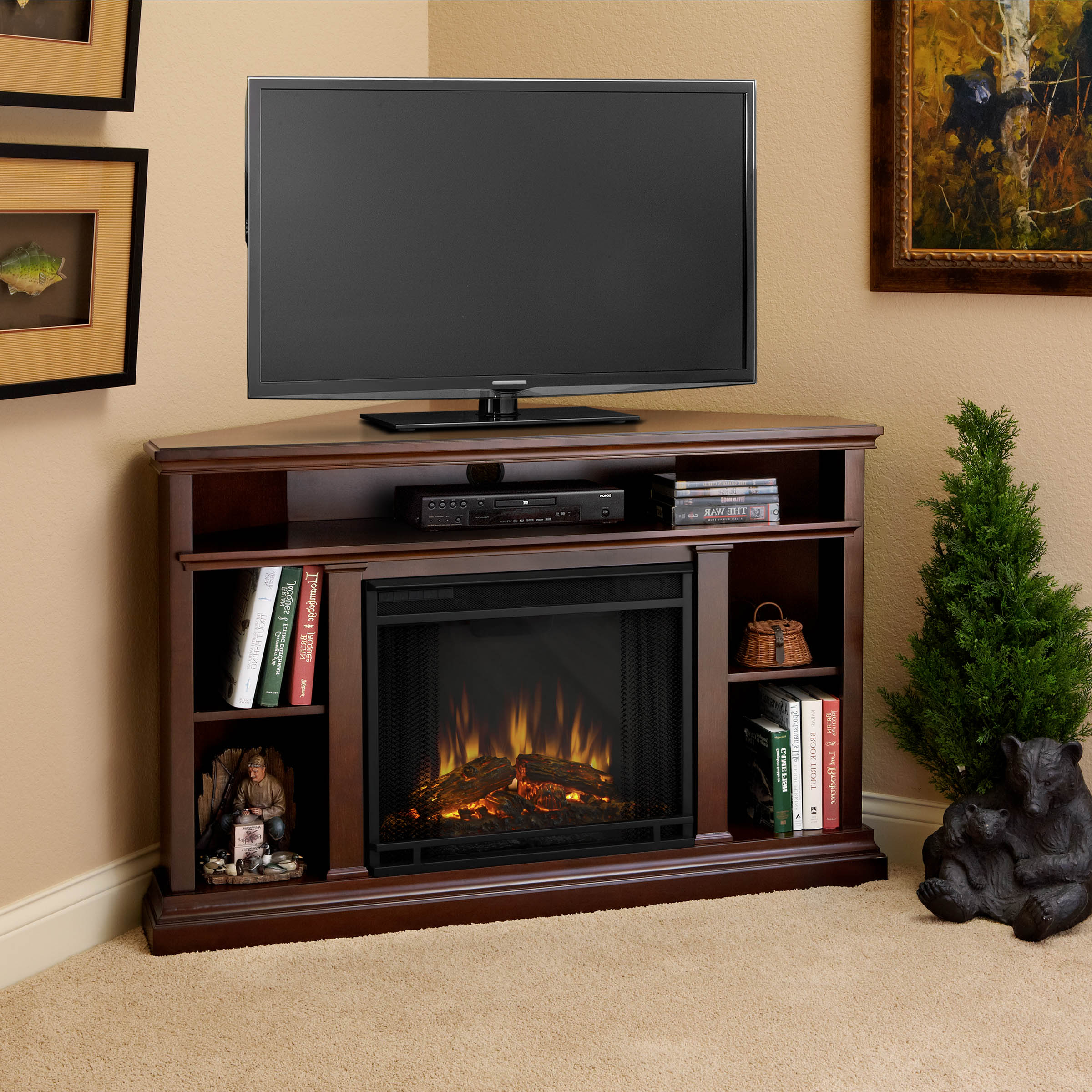 Newest Dark Brown Corner Tv Stands For Dark Wooden Corner Tv Stands – Corner Designs (View 8 of 20)