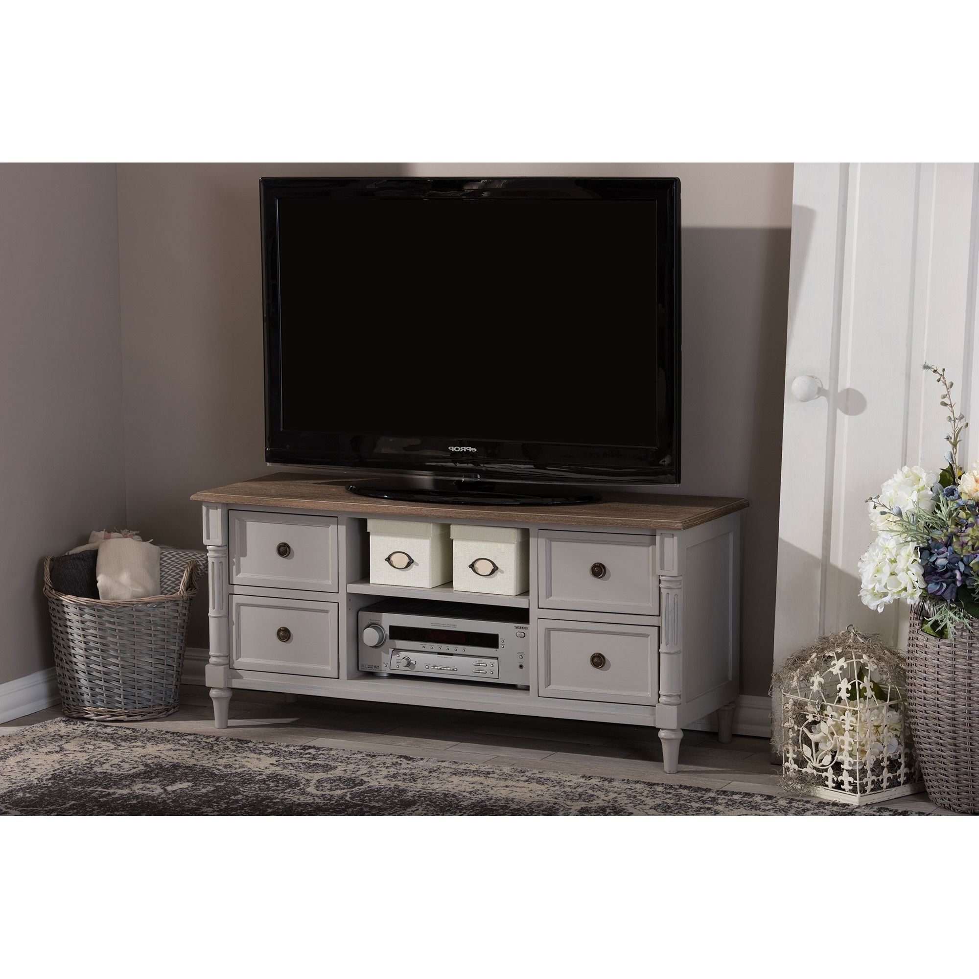 Newest French Country Tv Stands With Rustic, Country Farmhouse Pieces Like The Edouard Tv Cabinet Work To (View 14 of 20)