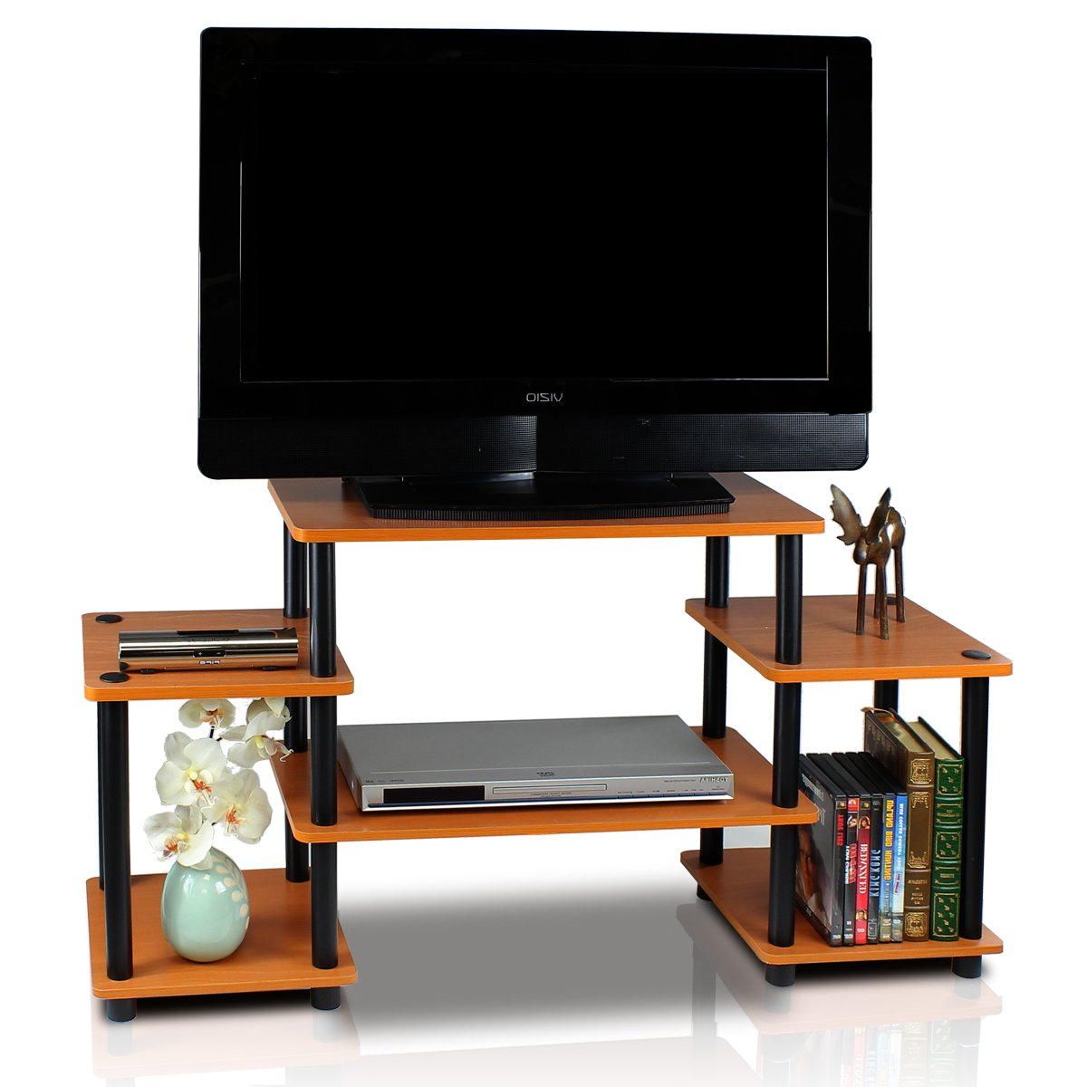Newest Furinno 11257Be//wh Turn N Tube No Tools Entertainment Tv Stands Inside Beech Tv Stands (View 17 of 20)