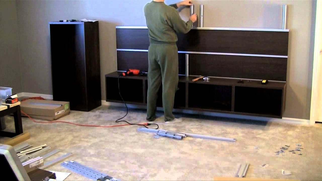 Newest Ikea Wall Mounted Tv Cabinets Within Ikea Besta/framsta – Wall Mount Entertainment Center Assembly Part (View 13 of 20)