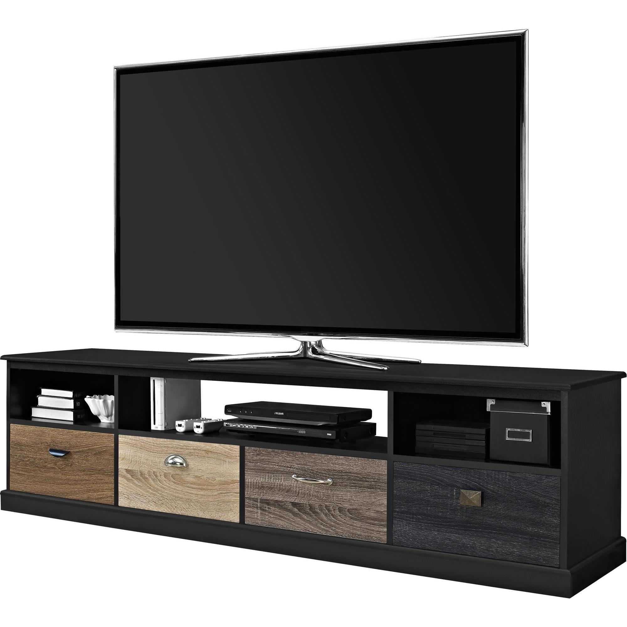 Newest Kilian Grey 49 Inch Tv Stands Within Shop Avenue Greene Mercer 65 Inch Black Tv Console With Multicolored (Gallery 19 of 20)