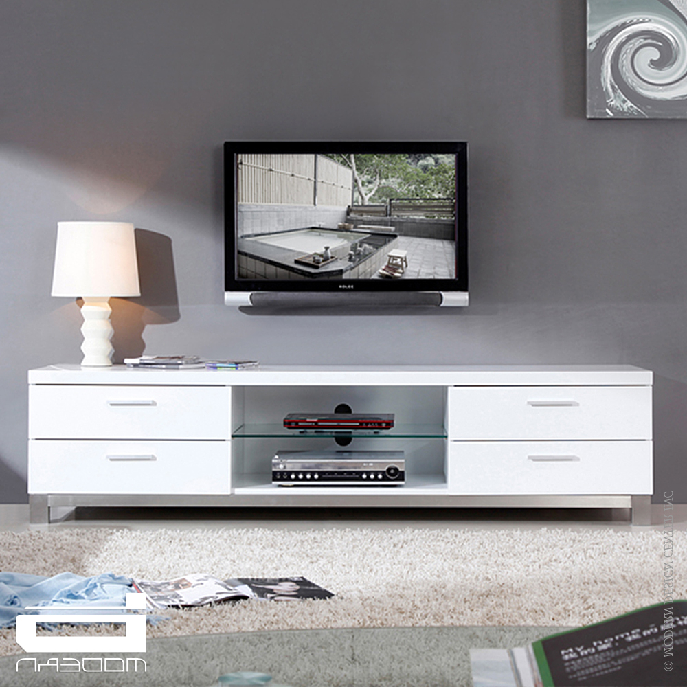 Newest Large White Tv Stands Intended For White Tv Stand With Drawers Units Stands Bench Ikea Evoque High (View 12 of 20)